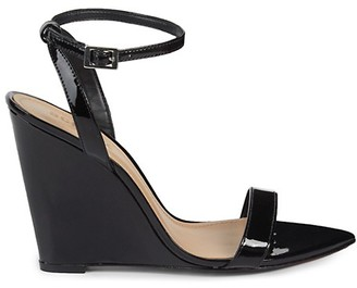 Schutz Ankle-Strap Patent Leather Wedge Sandals