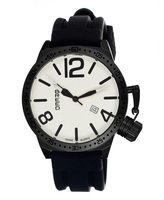 Breed Black Lucan Oversize-Crown Swiss Watch