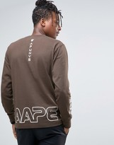 AAPE BY A BATHING APE AAPE By A Bathing Ape Long Sleeve T-Shirt With Camo Logo