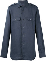 Tom Ford shirt with epaulettes - men - Linen/Flax - 38