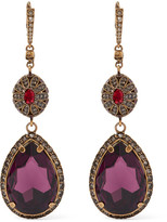Alexander McQueen Gold-plated Swarovski Crystal Earrings - one size