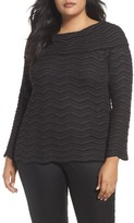Nic+Zoe Plus Size Women's Zigzag Stripe Sweater