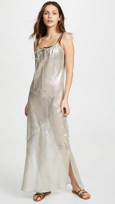 Lisa Marie Fernandez Drawstring Bias Slip Dress