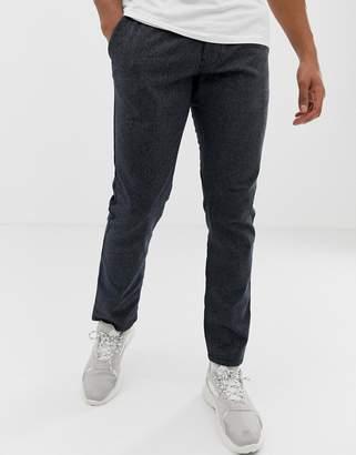 Esprit slim fit chino with drawstring waist in dark grey