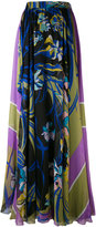 Emilio Pucci floral print pleated skirt - women - Silk - 38