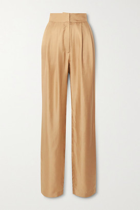 TOVE Remi Silk-twill Tapered Pants - Gold