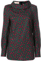 Marni patterned roll neck blouse
