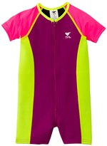 TYR Girls' UPF 50+ Short Sleeve Solid Thermal Suit (3yrs10yrs) - 8117739