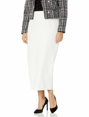 Kasper Women's Plus Size Stretch Crepe Column Skirt