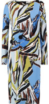 Emilio Pucci Gathered Printed Stretch-Jersey Dress
