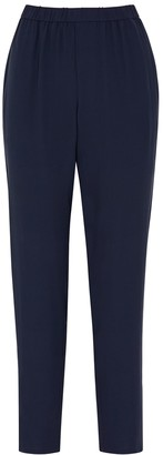 Eileen Fisher Navy Silk Trousers