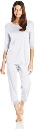 Hanro Women's Valencia 3/4 Sleeve Crop Pajama Set
