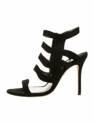 Aperlaï Suede Sandals Black