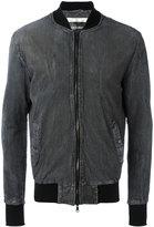 Giorgio Brato zipped jacket - men - Leather/Polyester/Acetate - 46