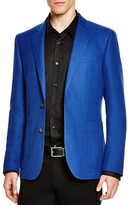 Hardy Amies Hopsack Basic Slim Fit Sport Coat