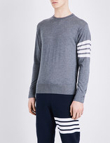 Thom Browne Striped-sleeve wool jumper
