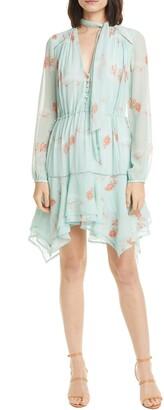 Jonathan Simkhai Irena Long Sleeve Silk Minidress