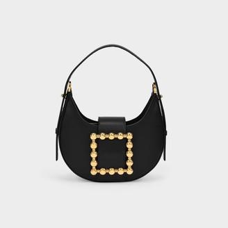 Les Petits Joueurs Cindy Shoulder Bag In Black Leather
