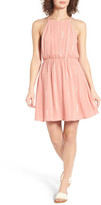 Lush Embroidered Apron Dress