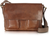 The Bridge Sfoderata Marrone Leather Messenger W/ Pockets