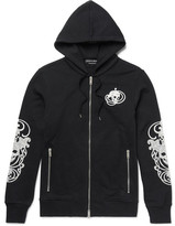 Alexander McQueen Embroidered Loopback Cotton-Jersey Hoodie