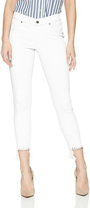 Hue Women's Hi-Low Step Hem Shipwrecked Denim Skimmer Legging