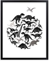 Pottery Barn Kids Jurassic Circle Wall Art by Minted(R) 8x10