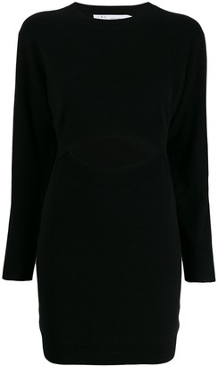 IRO Devlin cut-out detail knit dress