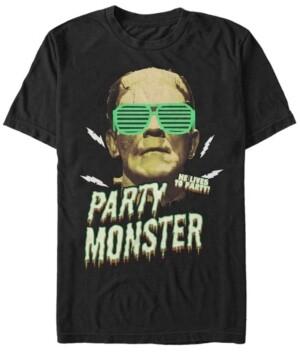 Fifth Sun Universal Monsters Men's Frankenstein Party Monster Short Sleeve T-Shirt