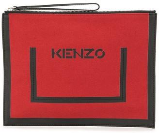 Kenzo Logo Print Clutch Bag