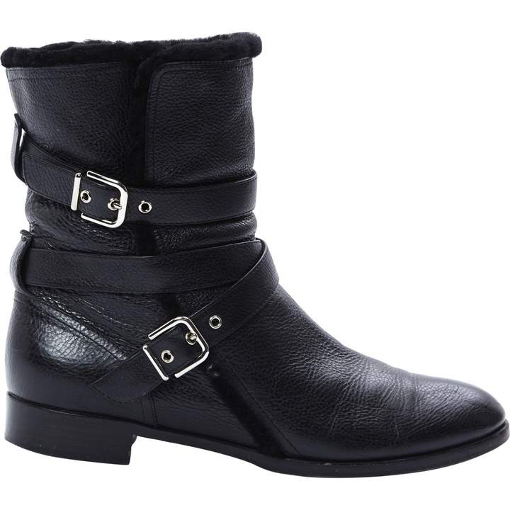 Gianvito Rossi Leather buckled boots