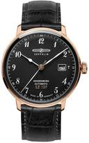 Zeppelin Men's 40mm Leather Band Steel Case Automatic Watch 7068-2