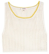 Lemlem Tiya Crochet-knit Cropped Top