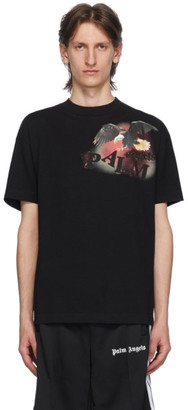 Palm Angels Black Flame Eagle T-Shirt