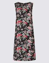 Marks and Spencer Linen Blend Printed Tunic Dress