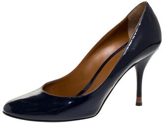 Fendi Navy Blue Patent Leather Pumps Size 39.5