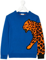 Paul Smith leopard pullover - kids - Cotton/Polyamide/Viscose - 4 yrs