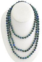 Barse Genuine Azurite Stone Wrap Necklace