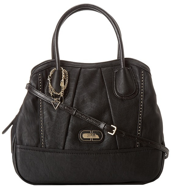 GUESS Corinna VP Iconic Satchel (Black) - Bags and Luggage