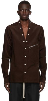 Rick Owens Burgundy Corduroy Larry Shirt