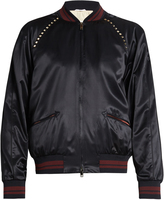 Valentino Rockstud Untitled #14 bomber jacket