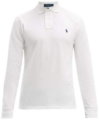 Polo Ralph Lauren Long-sleeve Slim-fit Cotton Polo Shirt - Mens - White