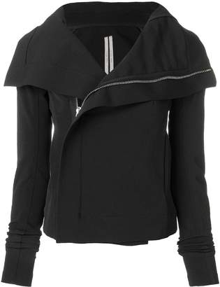 Rick Owens wrap front fitted jacket