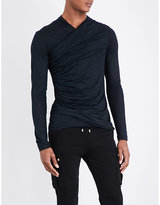 Balmain Draped Cotton Top