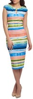 ECI Women's Stripe Pique Midi Dress