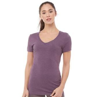 Reebok Womens V-Neck T-Shirt Pacific Purple