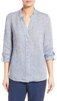 Nic+Zoe Petite Women's Drifty Linen Shirt