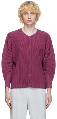 Homme Plissé Issey Miyake Purple Pleated MC July Shirt