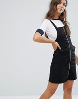 Girls On Film Denim Dungaree Dress