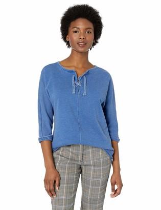 Jag Jeans Women's Petite Debbie Lace up Sweatshirt